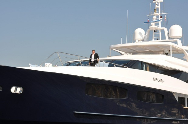 An aboard the M/Y Mischief