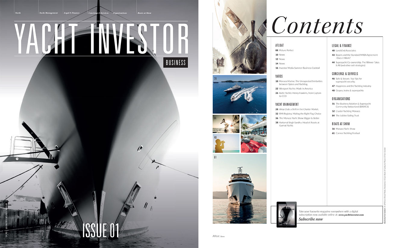 Yacht Investor Front Page